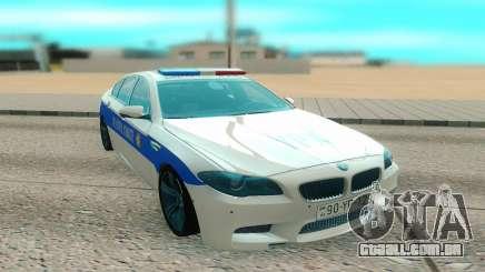 BMW M5 F10 branco para GTA San Andreas