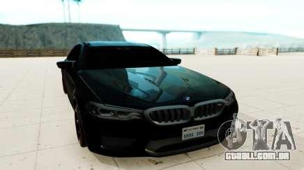 BMW M5 F90 preto para GTA San Andreas