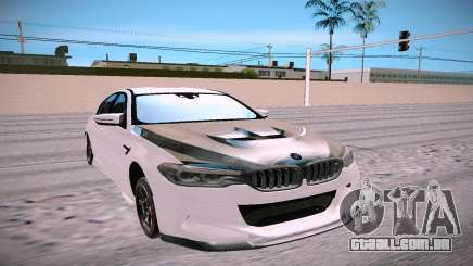 BMW M5 F90 branco para GTA San Andreas