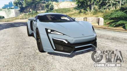 W Motors Lykan HyperSport 2014 v1.3 [replace] para GTA 5