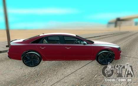 Audi S8 TMT para GTA San Andreas esquerda vista