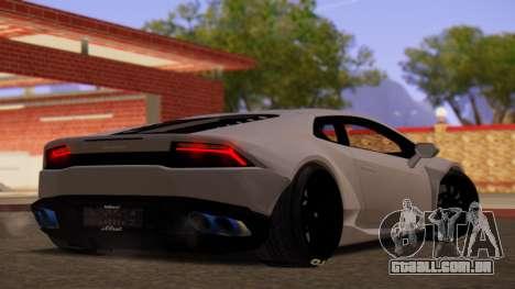Lamborghini Huracan Pamdem Kit para GTA San Andreas esquerda vista