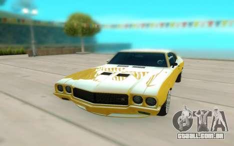 1970 Buick GSX V10 para GTA San Andreas vista direita