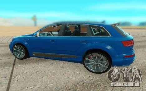 Audi Q7 ABT para GTA San Andreas traseira esquerda vista