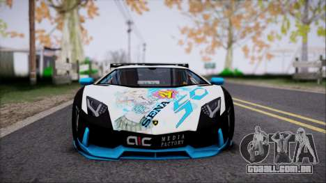 Lamborghini Aventador v3 para GTA San Andreas vista direita