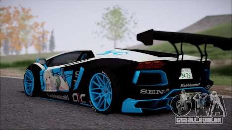 Lamborghini Aventador v3 para GTA San Andreas traseira esquerda vista