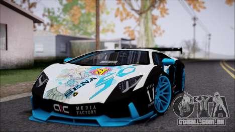 Lamborghini Aventador v3 para GTA San Andreas esquerda vista