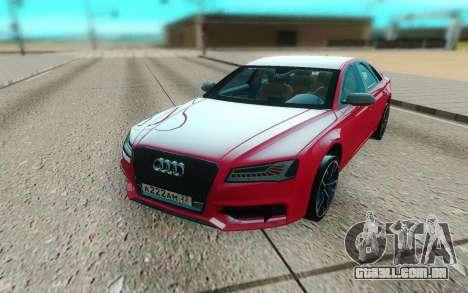 Audi S8 TMT para GTA San Andreas vista traseira