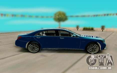 Mercedes Benz S630 W222 para GTA San Andreas