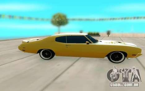 1970 Buick GSX V10 para GTA San Andreas esquerda vista