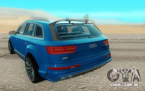 Audi Q7 ABT para GTA San Andreas vista traseira