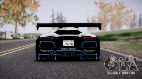 Lamborghini Aventador v3 para GTA San Andreas vista traseira