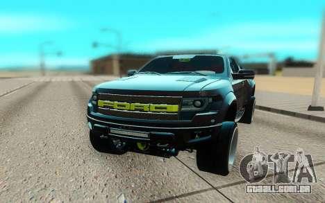 Ford 150 Raptor 2012 para GTA San Andreas vista direita