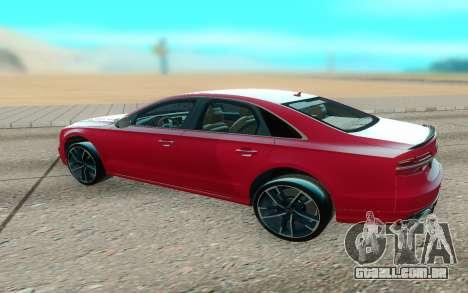 Audi S8 TMT para GTA San Andreas vista direita