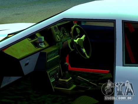Elegy Missle para GTA San Andreas traseira esquerda vista