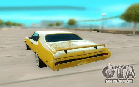 1970 Buick GSX V10 para GTA San Andreas vista traseira