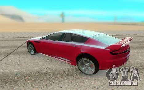 GTA V Coil Raiden para GTA San Andreas traseira esquerda vista