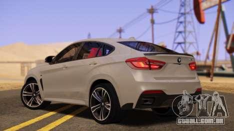 BMW X6 50D para GTA San Andreas esquerda vista