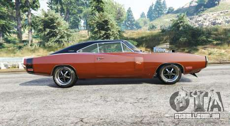GTA 5 Dodge Charger RT (XS29) 1970 v4.0 [replace] vista lateral esquerda