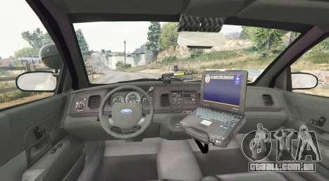 GTA 5 Ford Crown Victoria LSPD [replace] traseira direita vista lateral