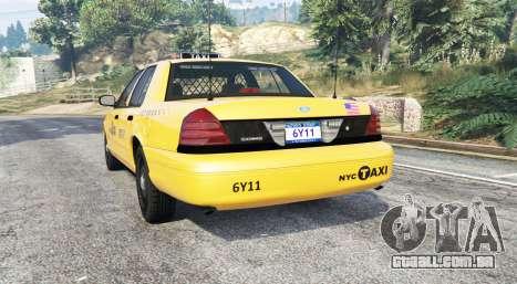 GTA 5 Ford Crown Victoria Undercover Police [replace] traseira vista lateral esquerda
