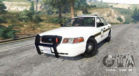 GTA 5 Ford Crown Victoria State Trooper [replace] vista lateral direita