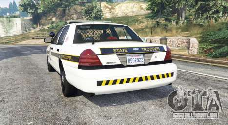 GTA 5 Ford Crown Victoria State Trooper [replace] traseira vista lateral esquerda