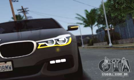 BMW 750i para GTA San Andreas vista interior