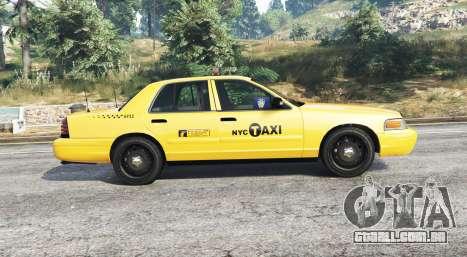 GTA 5 Ford Crown Victoria Undercover Police [replace] vista lateral esquerda