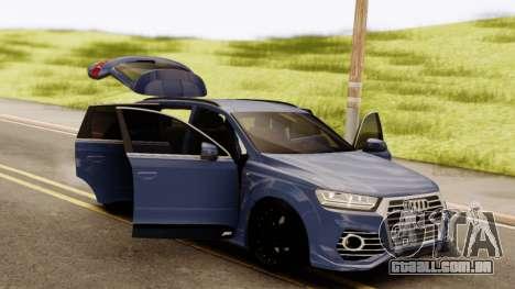 Audi SQ7 para GTA San Andreas vista traseira