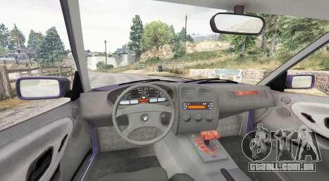 GTA 5 BMW M3 (E36) Touring v2.0 [replace] traseira direita vista lateral