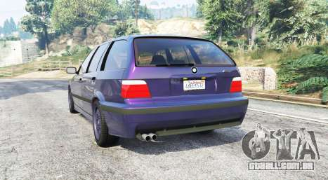 GTA 5 BMW M3 (E36) Touring v2.0 [replace] traseira vista lateral esquerda