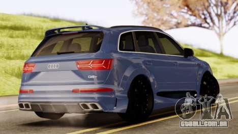 Audi SQ7 para GTA San Andreas esquerda vista