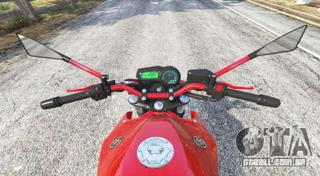 GTA 5 Yamaha XJ6 v1.1 [replace] traseira direita vista lateral