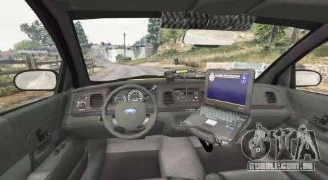 GTA 5 Ford Crown Victoria Undercover Police [replace] traseira direita vista lateral