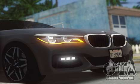 BMW 750i para GTA San Andreas vista traseira