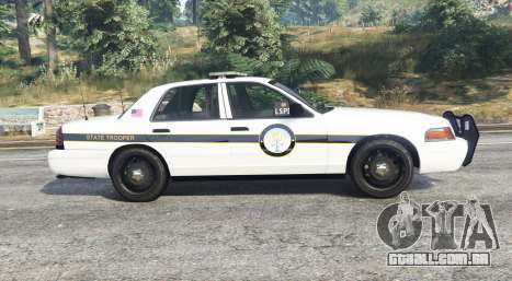 GTA 5 Ford Crown Victoria State Trooper [replace] vista lateral esquerda