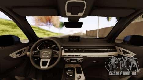 Audi SQ7 para GTA San Andreas traseira esquerda vista