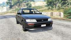 Toyota Corolla v1.15 black edition [replace] para GTA 5