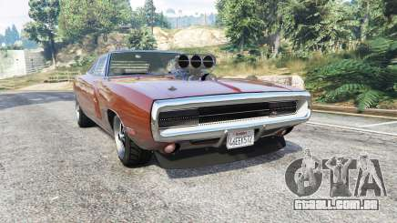 Dodge Charger RT (XS29) 1970 v4.0 [replace] para GTA 5