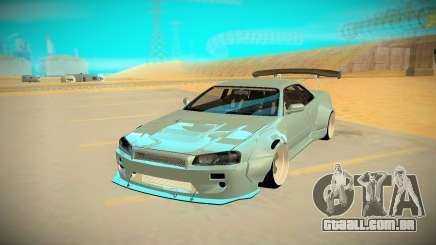 Nissan Skyline R34 prata para GTA San Andreas