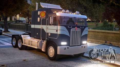USA TRUCK Kenworth K100 VIP REL para GTA 4 vista interior