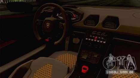 Lamborghini Huracan Performante Spyder para GTA San Andreas vista interior