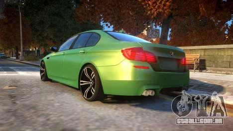 BMW M5-series F10 Azerbaijan style para GTA 4 traseira esquerda vista
