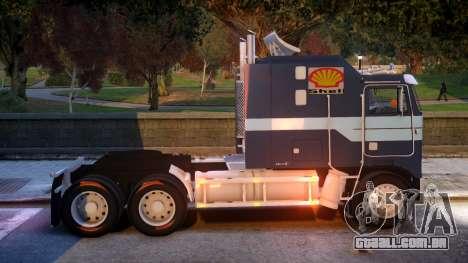 USA TRUCK Kenworth K100 VIP REL para GTA 4 vista de volta