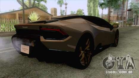 Lamborghini Huracan Performante Spyder para GTA San Andreas vista direita