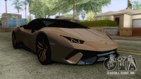 Lamborghini Huracan Performante Spyder para GTA San Andreas traseira esquerda vista