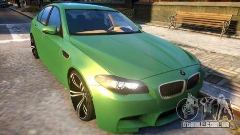 BMW M5-series F10 Azerbaijan style para GTA 4 vista interior