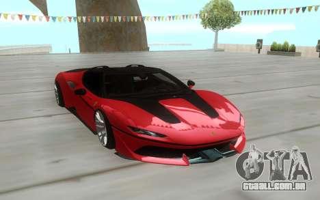 Ferrari J50 2017 para GTA San Andreas vista traseira