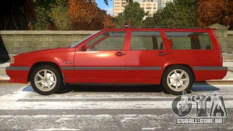 Volvo 850R para GTA 4 esquerda vista